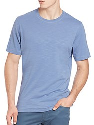 Saks Fifth Avenue Pima Cotton Slub Tee Blue