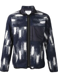 Patrik Ervell Ikat Fleece Jacket Blue