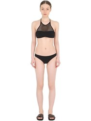 Frida Querida Reversible Lycra And Mesh Bikini