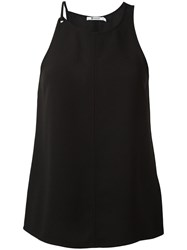 Alexander Wang T By Round Neck Tank Top Black