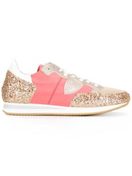 Philippe Model Glitter Detail Sneakers Pink Purple