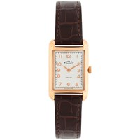 Rotary Ls02699 01 Women's Portland Leather Strap Watch Brown White