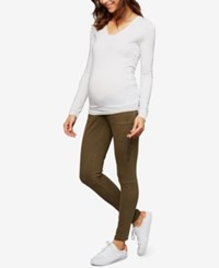 A Pea In The Pod Maternity Skinny Cargo Pants Olive