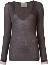 By. Bonnie Young V Neck Jumper Brown