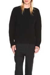 Our Legacy Heavy Boil Raglan Knit Sweater In Black