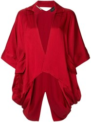 Roland Mouret Deep V Neck Jacket Red