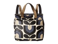Orla Kiely Matt Laminated Stripe Tulip Print Small Backpack Dusk Backpack Bags Pink