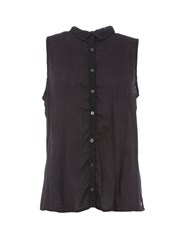 Garcia Sleeveless Print Shirt Black