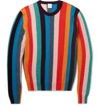 Paul Smith Striped Cashmere Sweater Red