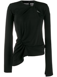 Unravel Project Asymmetric Long Sleeve Top Black