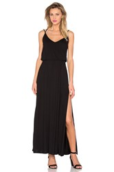 David Lerner Criss Cross Maxi Dress Black