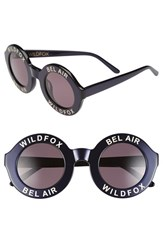Wildfox Couture Women's 'Bel Air' 44Mm Sunglasses Navy Blue Grey Solid Navy Blue Grey Solid