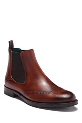 Ted Baker Camheri Leather Wingtip Chelsea Boot Tan