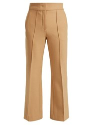 Joseph Ridge Kick Flare Twill Trousers Camel