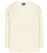 Polo Ralph Lauren Cotton Cable Knit Sweater Neutrals