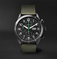 Oris Paradropper Limited Edition Automatic Chronograph 44Mm Titanium And Canvas Watch Ref. No. 01 774 7661 7734 Black
