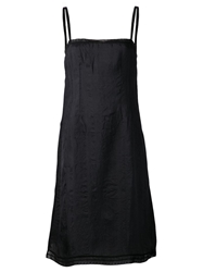 Dosa Chemise Slip Dress Black