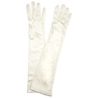 John Lewis Long Evening Gloves Cream