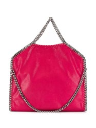 Stella Mccartney Falabella Shaggy Deer Fold Over Tote 5620 Rosa