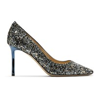 Jimmy Choo Blue Romy 85 Heels