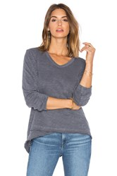 Wilt Slub Shrunken Mock Hem Long Sleeve Gray