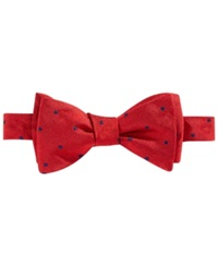 Brooks Brothers Repp Dot Bow Tie Red