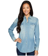Rock And Roll Cowgirl Long Sleeve Snap B4s3170 Blue Women's Clothing