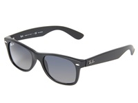 Ray Ban Rb2132 New Wayfarer 52Mm Matte Black Gray Blue Mirror Polar Sport Sunglasses