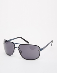 French Connection Aviator Sunglasses Blue