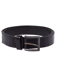 Scunzani Ivo Alligator Leather Belt Black