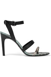 Mcq By Alexander Mcqueen Leather And Elaphe Sandals Green