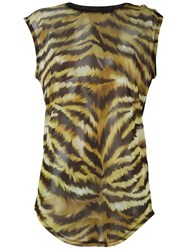 Balmain Tiger Print Top Black