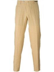 Pt01 Pleated Tapered Trousers Nude And Neutrals
