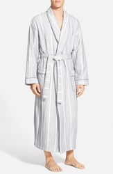 Men's Majestic International 'Breakers' Herringbone Cotton Robe Storm Cloud