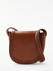 And Or Isabella Whipstitch Saddle Bag Tan