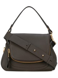 Tom Ford Medium Double Zip Jennifer Crossbody Bag Women Cotton Polyester Bos Taurus One Size Brown
