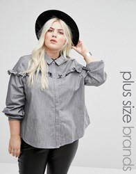 Alice And You Pie Crust Chambray Top Grey