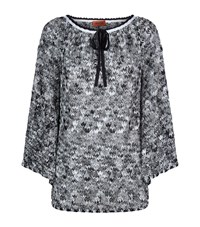 Missoni Crochet Knit Kaftan Blouse Female Black
