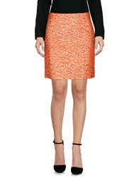Aspesi Knee Length Skirts Orange