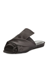 Charles By Charles David Mya Knotted Satin Slide Mule Black