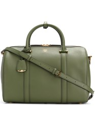 Mcm Essential Boston Tote Leather Green
