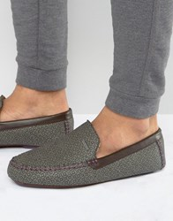 Ted Baker Moriss Print Slippers Grey