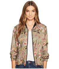Blank Nyc Printed Bomber In Sun Chaser Sun Chaser Women's Coat Gold