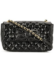 Moschino Cheap And Chic Diamond Quilt Crossbody Bag Black