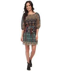 Scully Angelina Dress Teal Women's Dress Blue
