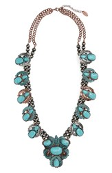 Natasha Leaf Stone Necklace Turquoise