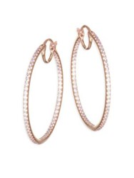 Adriana Orsini Pave Crystal Hoop Earrings Clear