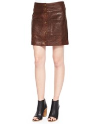 Veronica Beard Patrol Cargo Leather Mini Skirt Women's