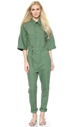 Band Of Outsiders Utility Jumpsuit Army Green