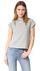 Alexander Wang Cap Sleeve Raglan Sweatshirt Heather Grey